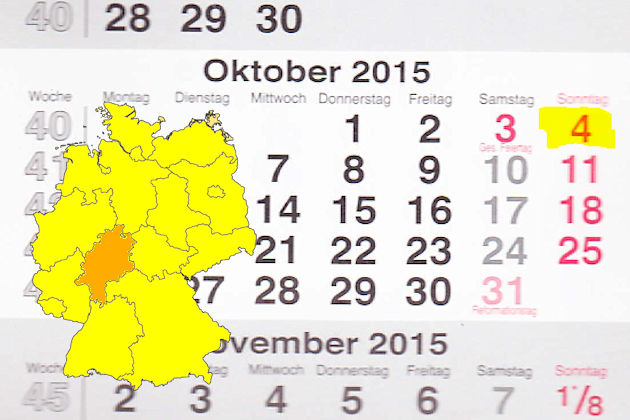 Verkaufsoffener Sonntag Am 04102015 In Hessen Feste Märkte
