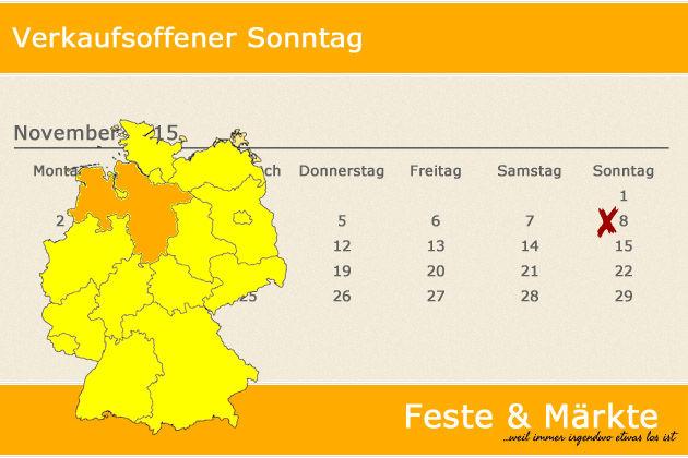 Verkaufsoffener Sonntag Niedersachsen : verkaufsoffener sonntag am in niedersachsen feste m rkte ~ Eleganceandgraceweddings.com Haus und Dekorationen