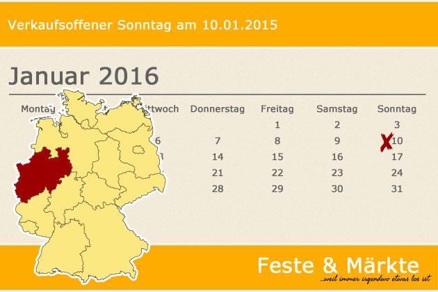 Verkaufsoffener Sonntag Am 10012016 In Nordrhein Westfalen Feste